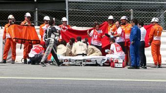 Die Ärzte kämpften am Unfallort um das Leben von Luis Salom – vergeblich.