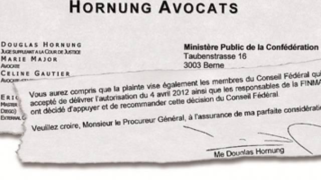 Ausriss aus dem Zusatz zur Strafanzeige zuhanden Bundesanwaltschaft. Foto: AZ