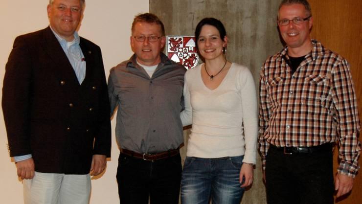 Eric von Schulthess, Markus Flury, Nadine Fluri und Beat Kocher.