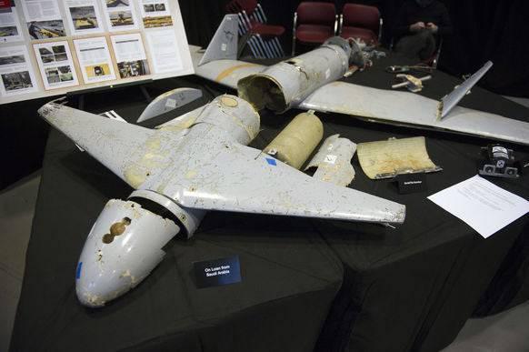 Überreste einer «Qasef-1»-Drohne. (Bild: ap/fr170079 ap