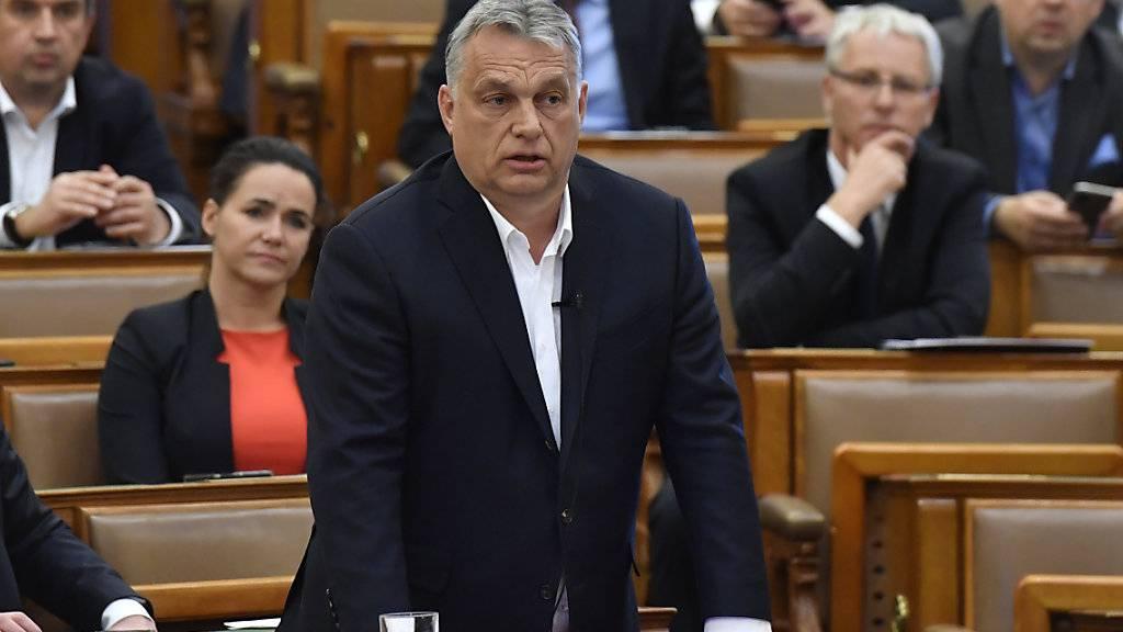 Zahlreiche EU-Staaten sorgen sich um die Demokratie. Obwohl der Name des ungarischen Präsidenten, Viktor Orban, in einer Erklärung nicht erwähnt wird, ist der Aufruf implizit an Orban gerichtet. Ungarn hatte vor wenigen Tagen die Grundrechte wegen der Coronakrise weiter eingeschränkt. (Archivbild)