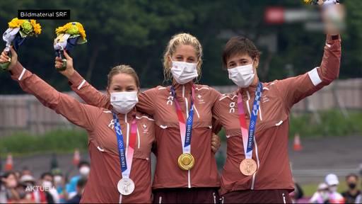 Schweizer Mountainbikerinnen feiern Olympia-Dreifachsieg