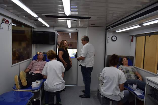 Der neue Blutspendebus hatte heute in Liestal seinen ersten Einsatz