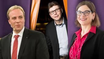 Marco Hardmeier, Dieter Egli und Franziska Graf