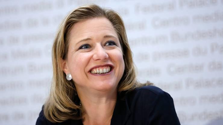 Christa Markwalder, Berner FDP-Nationalrätin, schaffte 2003 auf einer Frauenliste den Sprung in den Nationalrat. (KEY/Peter Klaunzer)