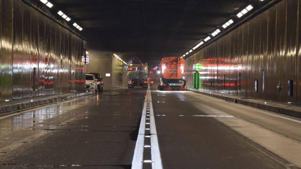 Der Gotthardstrassentunnel der Autobahn A2 wird im Juni zweimal für je vier Nächte geschlossen.