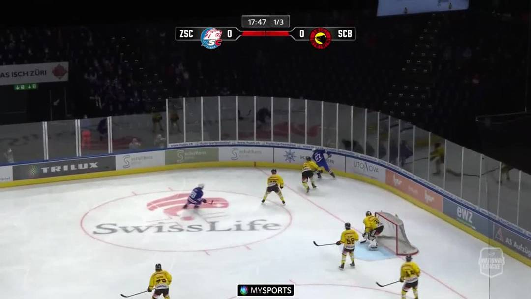 ZSC Lions besiegen Bern mit 3:0 und führen die Eishockey-Tabelle an