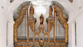 Die grosse Orgel in der Klosterkirche Muri: Der Vertrag für deren Bau wurde vor 400 Jahren unterzeichnet.