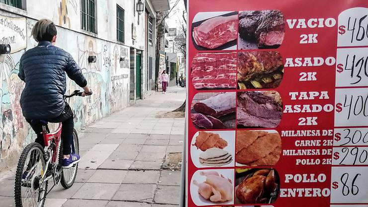 Die Preise haben sich im vergangenen Jahr in Argentinien binnen Jahresfrist um rund 60 Prozent erhöht. (Symbolbild)