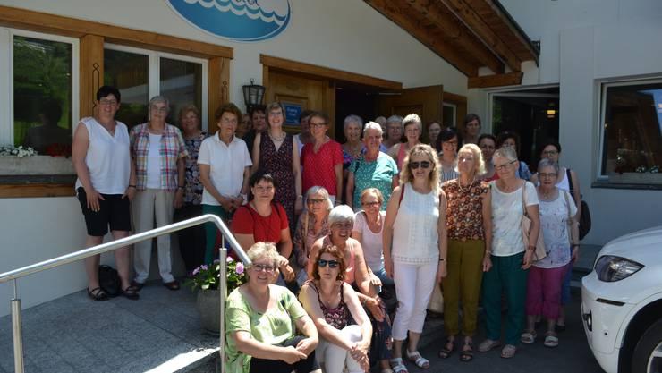 Bild vor dem Restaurant Bad Schwarzsee
