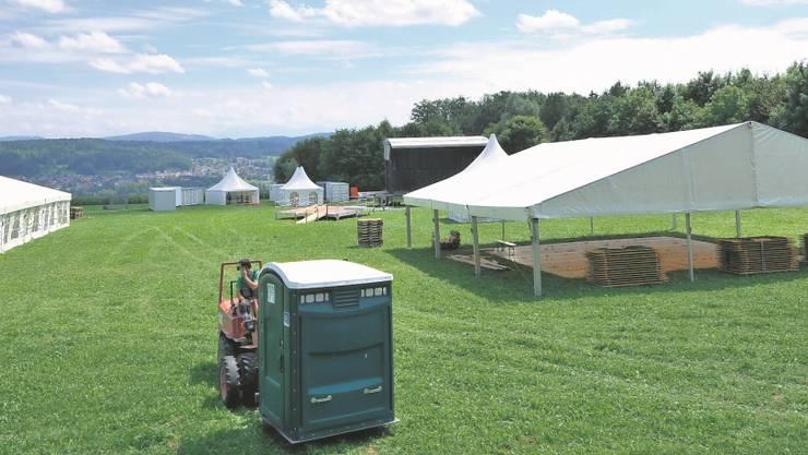Blick auf das Festgelände des FeelGood-Festivals.