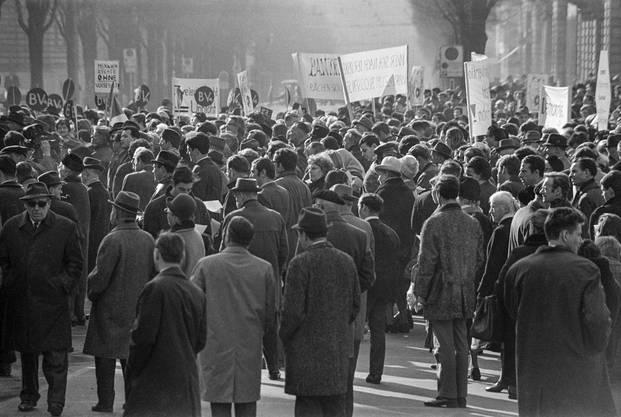 Der «Marsch nach Bern» ging als friedliche Kundgebung in die Annalen ein.