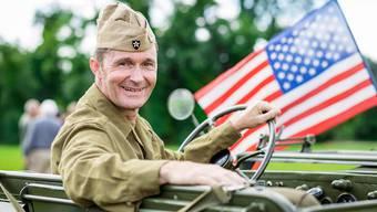 Organisator Adrian Gerwer: «Die Amerikaner brachten mit der Normandie-Invasion eine hochstehende Fahrzeugflotte nach Europa. Mich fasziniert die Technik.»