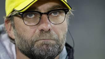 Finstere Miene: Dortmunds Trainer Jürgen Klopp.