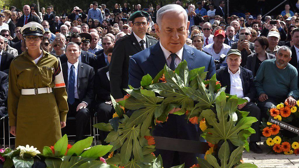 """Ministerpräsident Benjamin Netanjahu: Stellt die Entschlossenheit des Staates Israel nicht auf die Probe."""""""