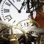 Der Jahreswechsel wird von dort live im Fernsehens ins ganze Land übertragen: Das Uhrwerk der Turmuhr auf dem Platz Puerta del Sol in der spanischen Hauptstadt Madrid. (Archivbild)