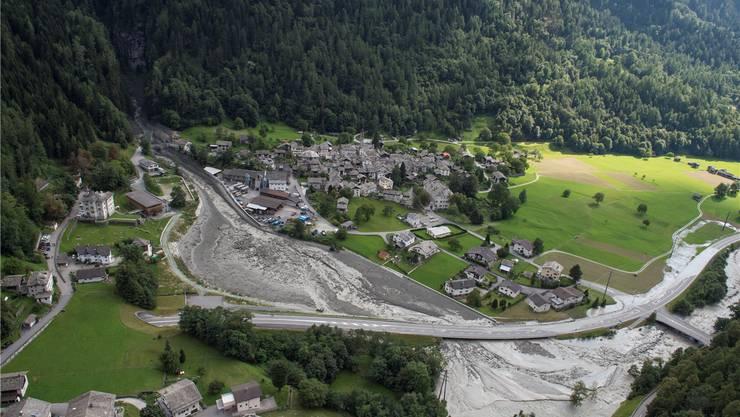 Am 23. August 2017 stürzten über drei Millionen Kubikmeter Felsmaterial vom Piz Cengalo ins Tal.