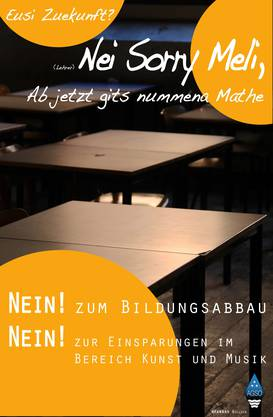 Diese Plakate der Kantischüler verbot der Bildungsdirektor.