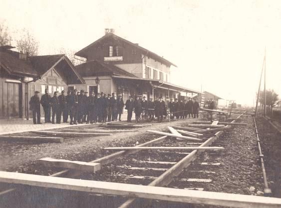 Blockade des Südbahnhofs im generalstreik 1918