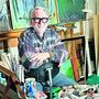 Manchmal kommt er auch mitten in der Nacht zum Arbeiten her: Jakob E. Omlin in seinem Atelier.