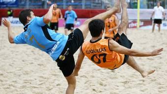 Nach dem achten Platz des Vorjahres wollen die Aargauer Strandfussballer nun in die Top 6 vorrücken. Archiv/Giuseppe Esposito