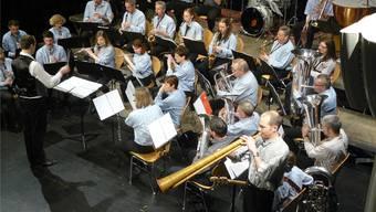 Der Musikverein Wohlen am Jahreskonzert 2013. Archiv/az