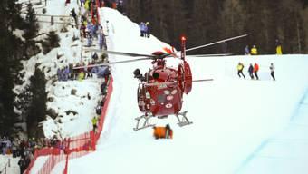 Sturz von Marc Gisin in der Abfahrt in Val Gardena
