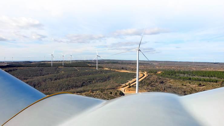 Der spanische EBM-Windpark aus der Perspektive einer Kraftwerksgondel: Solche Investitionen binden das Kapital langfristig.