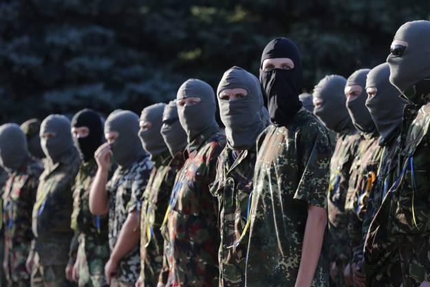 Mitglieder eines ukrainischen Freiwilligen-Batallion.