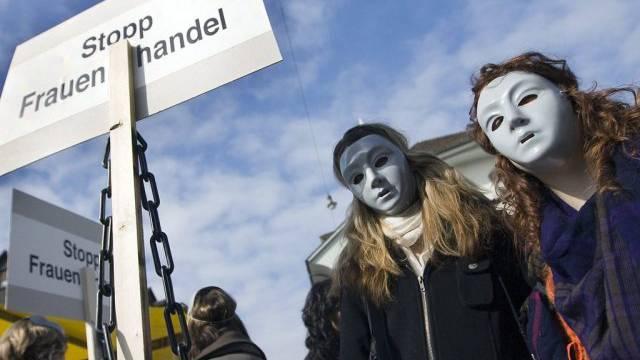 Demonstration gegen Frauenhandel in Bern (Archiv)