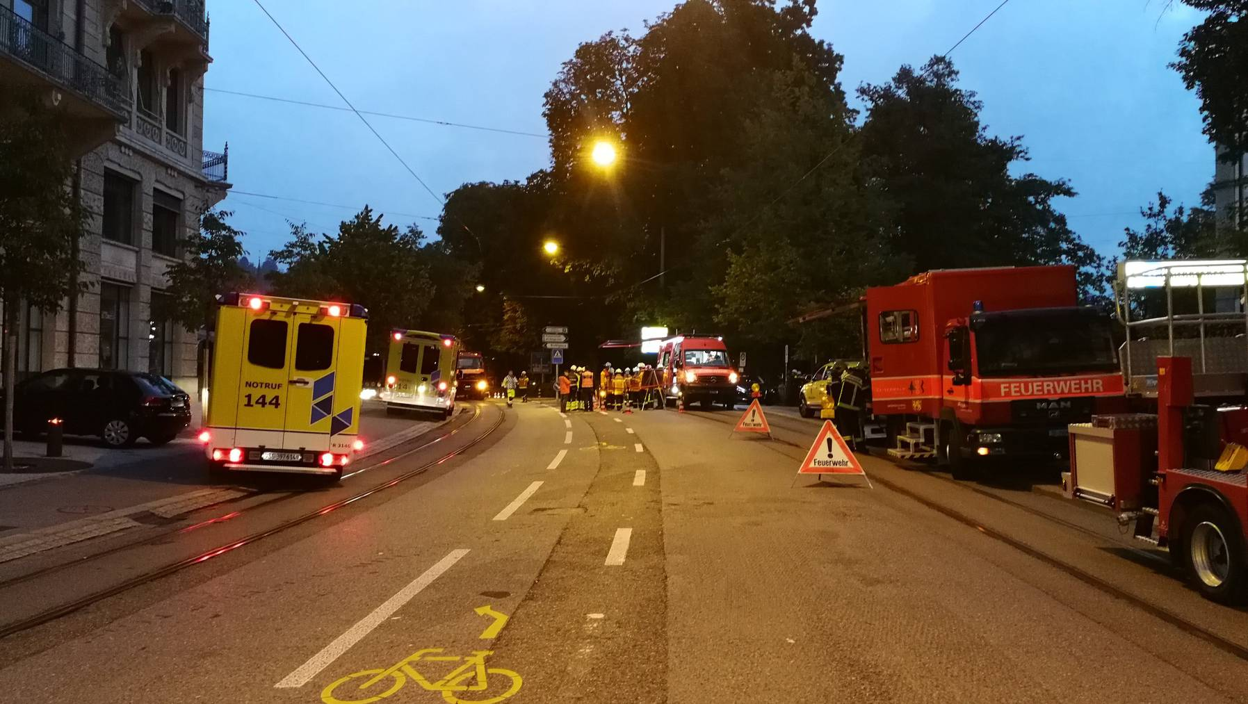 In den frühen Morgenstunden brannte es in einer Bar in St.Gallen
