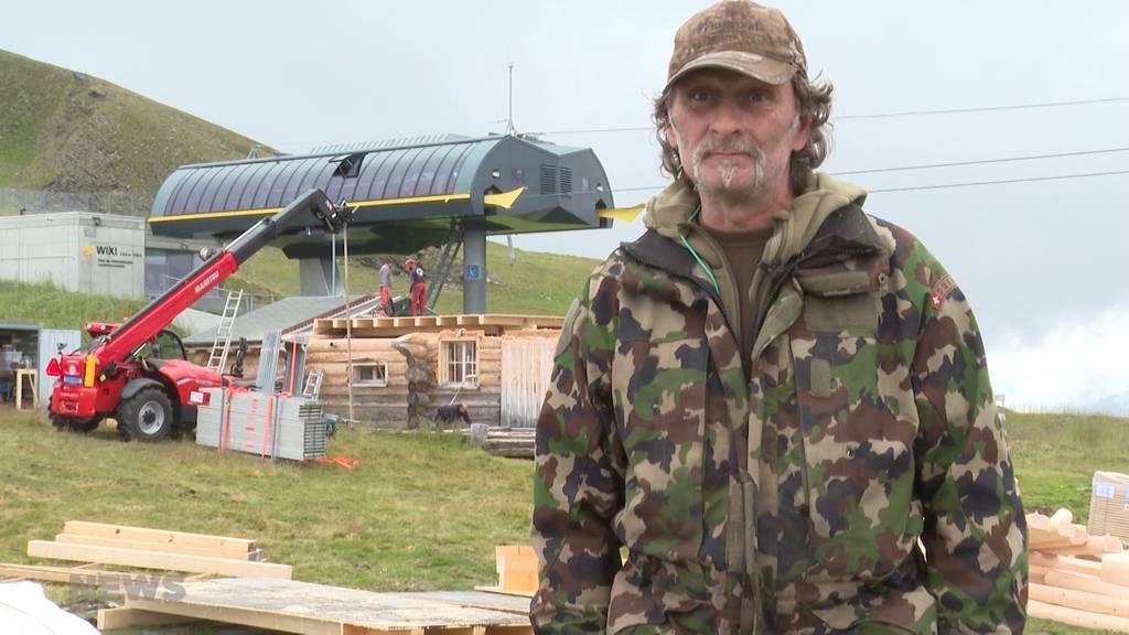 Bald wieder alles unter Dach und Fach: Wiederaufbau der Lauberhorn-Startbar läuft auf Hochtouren