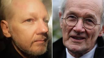 Julian Assange (links) und sein Vater.