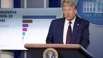 Nach Ansicht von US-Präsident Donald Trump wird sich die Coronakrise in den USA in nächster Zeit weiter verschlimmern - bevor es dann besser wird.