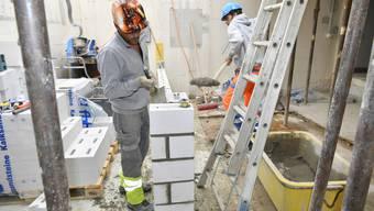 Zwischenstand der Bauarbeiten im Alterszentrum Kastels