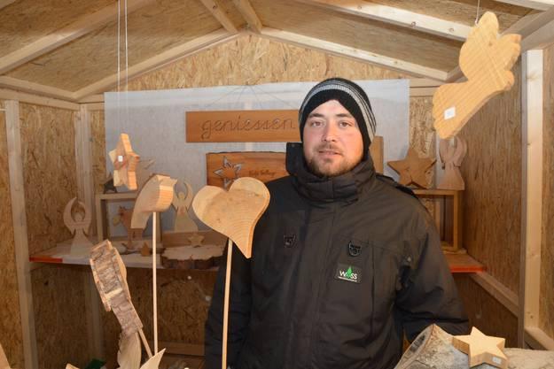 «Der neue Standort ist auch für die Stadt besser.» Patrik Wyss aus Härkingen repräsentierte die familieneigene Firma, die Weihnachtsbäume und Holzhandwerk anbietet.