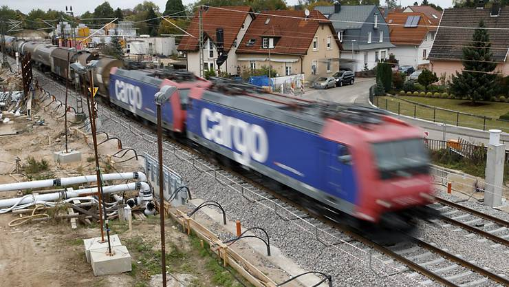 Die Sperrung der Rheintalstrecke bei Rastatt (D) bescherte der Bahn 2017 einen markanten Einbruch im Güterverkehr. (Themenbild)