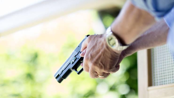 Starke Pistolenschützen aus der Region.