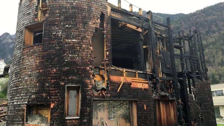 Das Haus in Chur ist nach dem Brand nicht mehr bewohnbar.