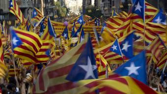 Demonstranten in Barcelona fordern ein unabhängiges Katalonien