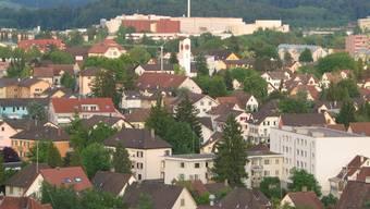 Gemeindegrenzen (hier von Aarau und Buchs) verwischen sich