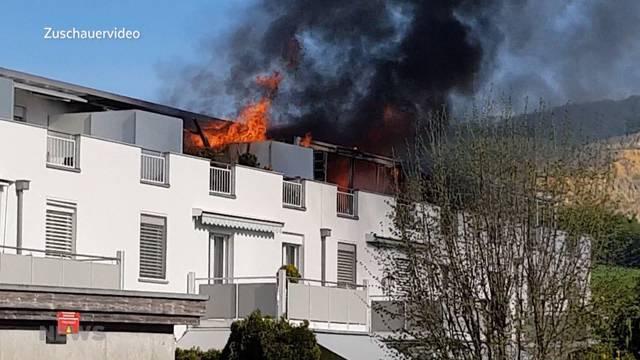 Meterhohe Flammen bei Wangen in Olten