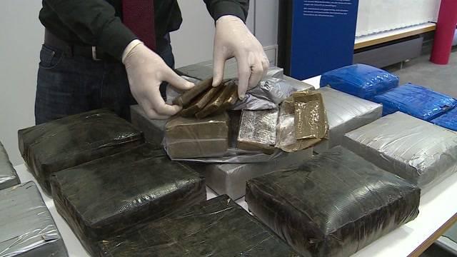 70 Kilo Haschisch beschlagnahmt