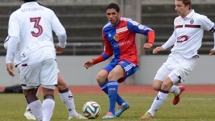 Basels Mohamed Elneny stand für einmal in der Startelf.