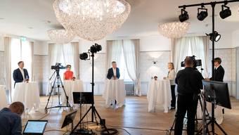 (Fast) ohne Publikumskulisse, dafür live gestreamt: Forum im Hotel Weissenstein.
