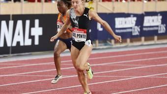Ajla Del Ponte sorgte für eine Überraschung und gewann in Monaco das 100-m-Rennen der Frauen