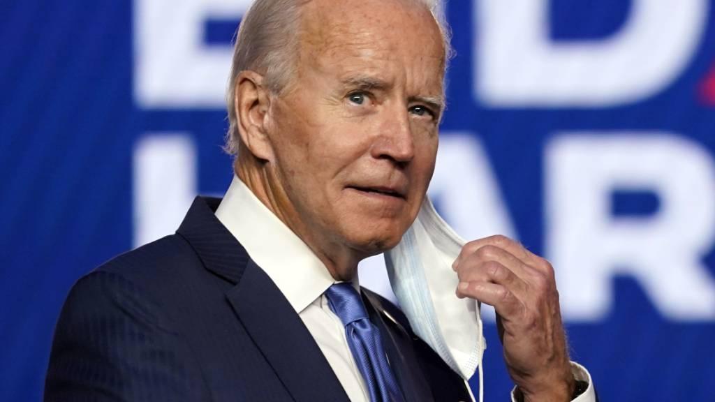 Joe Biden bei einem Auftritt in Wilmington im US-Bundesstaat Delaware. Foto: Carolyn Kaster/AP/dpa