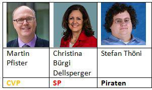 Die Neukandidierenden für die Regierung des Kantons Zug.