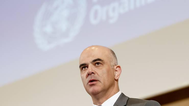 Bundesrat Alain Berset hat am Montag in Genf die 72. Weltgesundheitsversammlung eröffnet.
