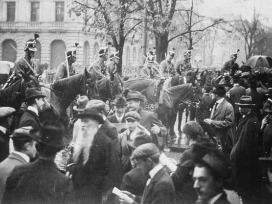 Am 12. November 1918 hatte in der Schweiz der Landesstreik begonnen. (Archivbild)